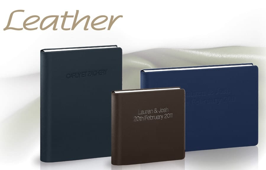 Graphistudio Leather Covers by 123 Photography, wedding photographer Leeds