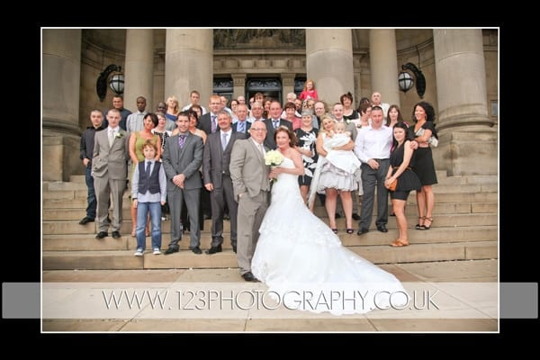 Joanne and Michael's wedding photography at Leeds Town Hall, Leeds, West Yorkshire