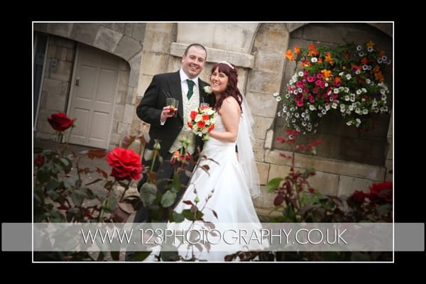 Sarah and Danny's wedding photography at Hazlewood Castle, Tadcaster