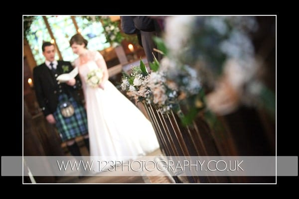 Anna and James's wedding photography at St Wilfred's Church, Burnsall