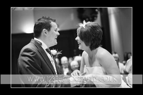Sarah and Russ's wedding photography at The Marriott Hotel, Leeds