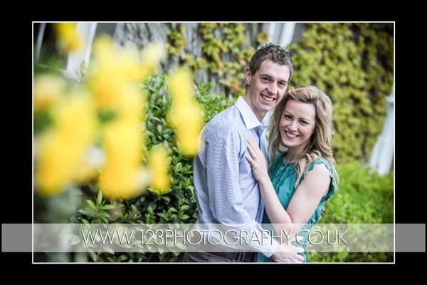 Naomi and Matt's engagement shoot for wedding photography at Doxford Hall, Northumberland