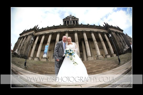 Debbie and Bill's wedding photography at Leeds Town Hall, West Yorkshire