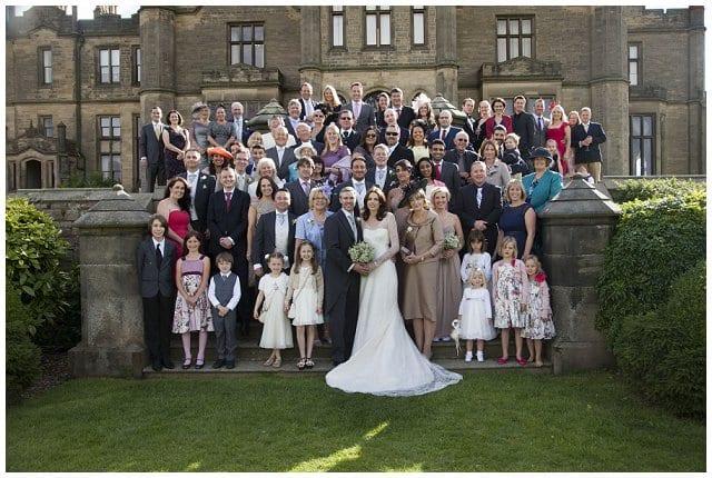 wedding group Allerton Castle