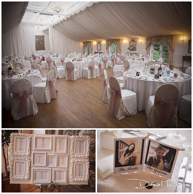 wedding breakfast Wrenbury Hall Cheshire