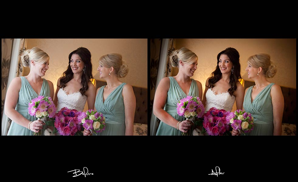 Airbrushing Leeds Wedding Photographer, photoshopped Leeds wedding