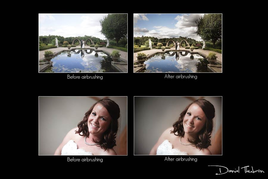 Airbrushing Leeds Wedding Photographer, photoshopped Leeds wedding photography