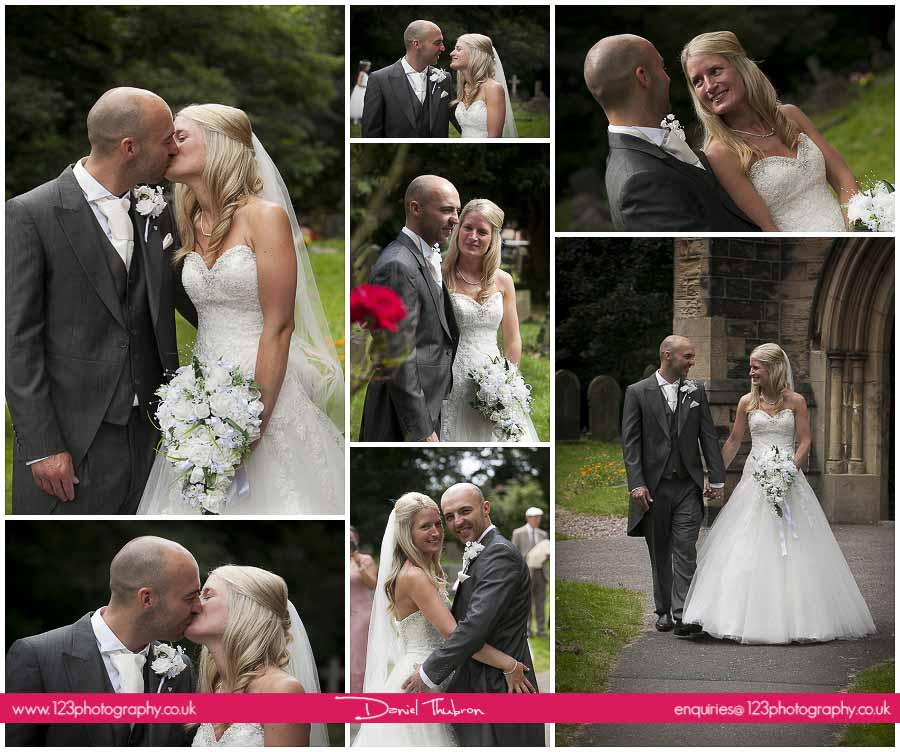 wedding photographs St. Mary's Church Middleton Leeds