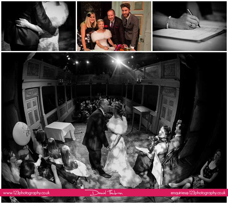 wedding photography Georgian Theatre Royal Richmond