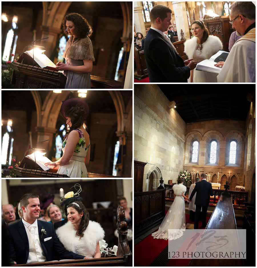 wedding photography St. Agatha's Church Gilling West
